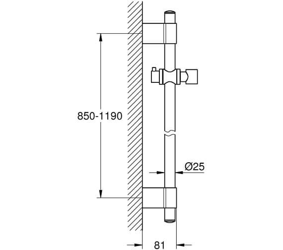 Technical drawing QS-V22257 / 28797001