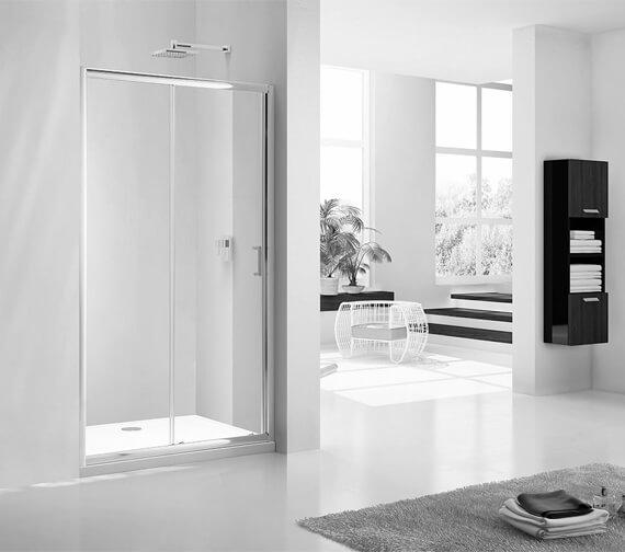 Additional image of Aquaglass Purity 6mm Sliding Door
