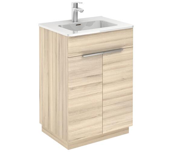 Royo Silk 600 x 450mm Two Door Floor-Standing Vanity Unit And Basin