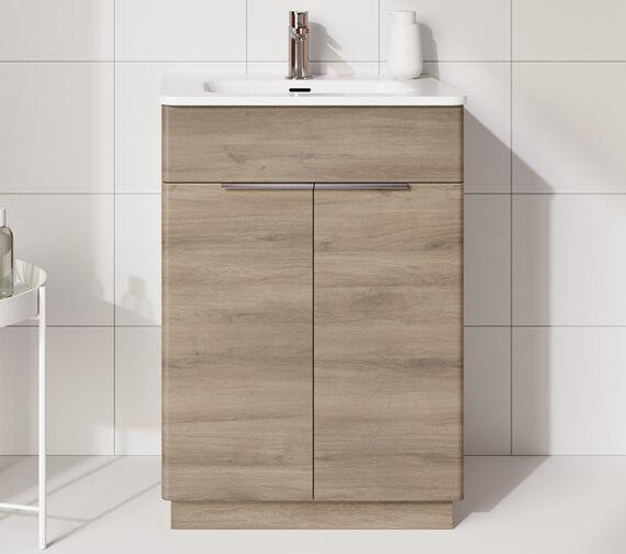 Additional image of Royo Silk 600 x 450mm Two Door Floor-Standing Vanity Unit And Basin