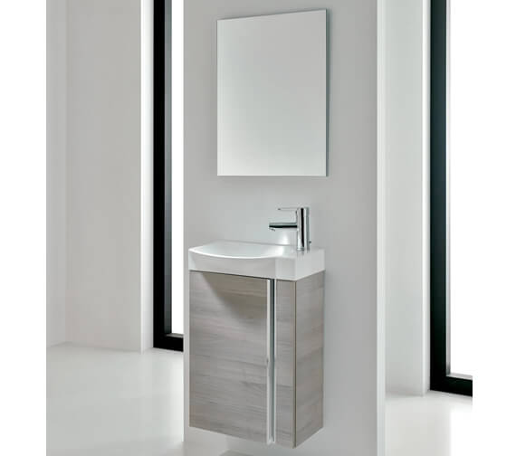 Royo Elegance 450 x 250mm 1 Door Cloakroom Unit With Basin And Mirror