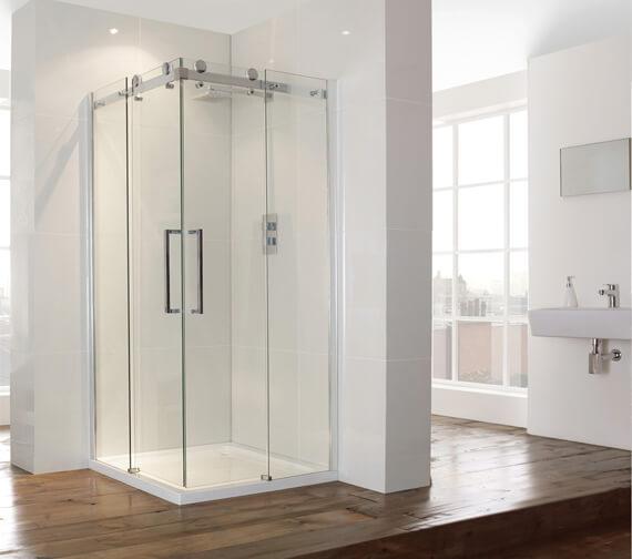 Aquaglass Plus 8mm Frameless Corner Entry Enclosure