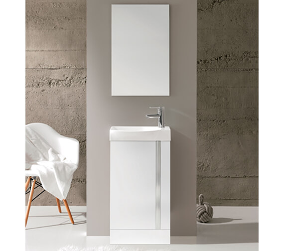 Additional image of Royo Elegance 450mm Floorstanding Cloakroom Unit With Basin And Mirror