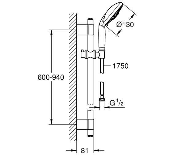 Technical drawing QS-V7603 / 28767001