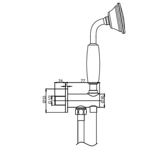 Technical drawing QS-V26800 / BL964C