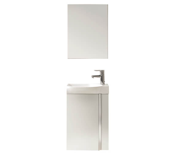 Additional image of Royo Elegance 450 x 250mm 1 Door Cloakroom Unit With Basin And Mirror