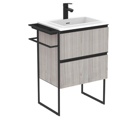 Royo Structure 600mm 2 Drawer Floor Standing Vanity Unit With Basin