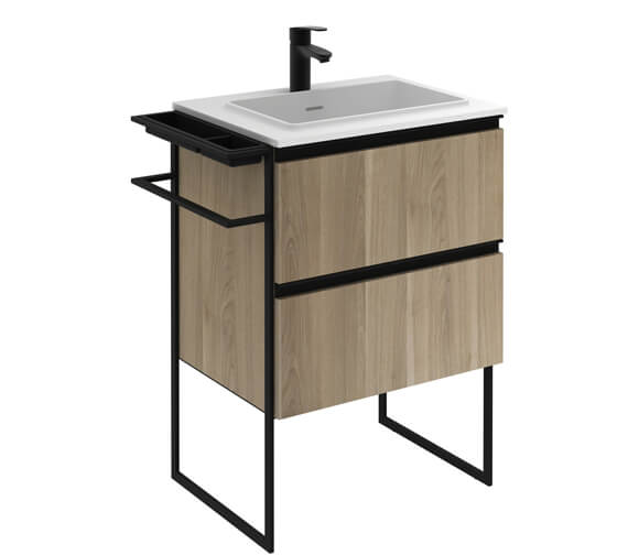 Additional image of Royo Structure 600mm 2 Drawer Floor Standing Vanity Unit With Basin