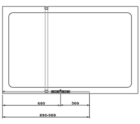 Technical drawing QS-V105018 / BEBC800510