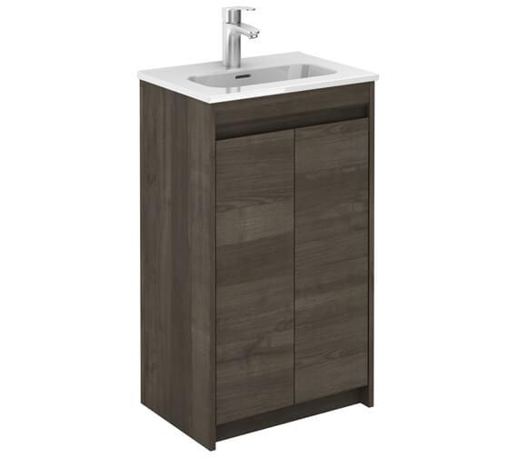 Royo Thai 500 x 350mm 2 Door Floor-Standing Cloakroom Vanity Unit And Basin