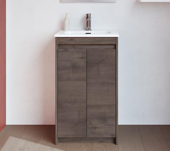 Additional image of Royo Thai 500 x 350mm 2 Door Floor-Standing Cloakroom Vanity Unit And Basin