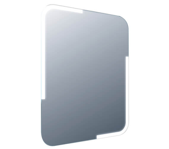 Frontline Curve 600 x 800mm LED Mirror With Touch Sensor And Demister Pad