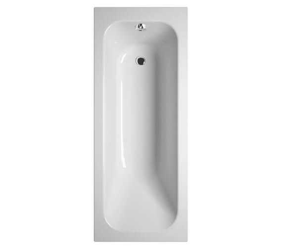 VitrA Balance 700mm Wide Single Ended Rectangular Bath - No Taphole