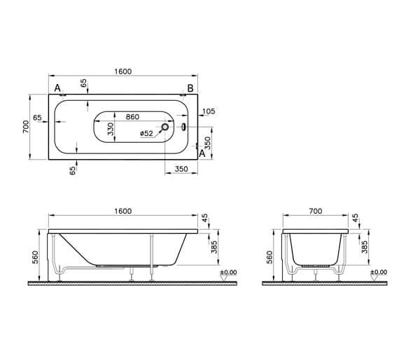 Technical drawing QS-V79734 / 55230001000