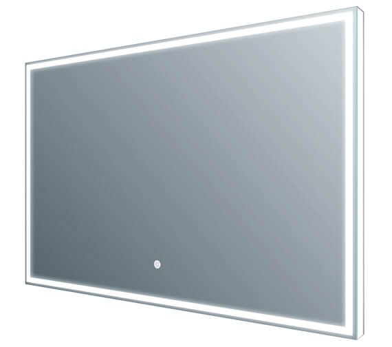 Frontline Luxe 600 x 800mm Aluminium Framed LED Mirror With Demister Pad