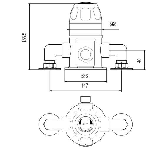 Technical drawing QS-V23160 / VSQ1