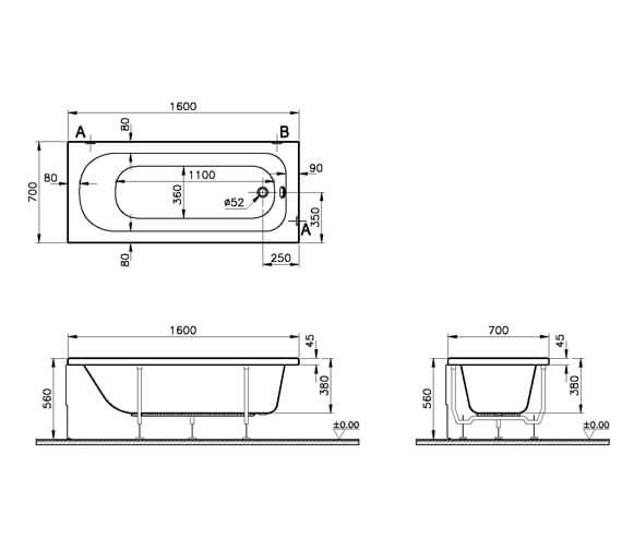 Technical drawing QS-V59771 / 50800001000