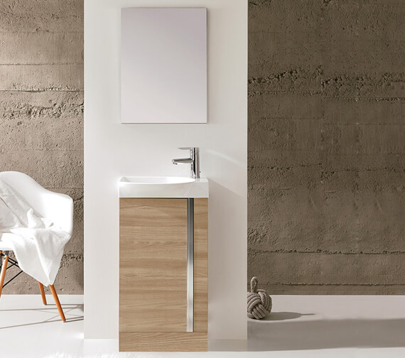 Royo Elegance 450mm Floorstanding Cloakroom Unit With Basin And Mirror