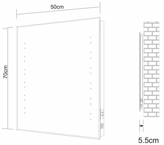 Technical drawing QS-V98516 / BEMLED-14-4X6