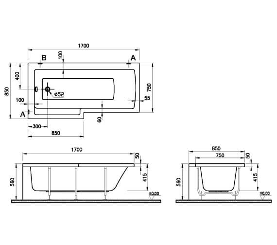 Technical drawing QS-V59758 / 55380001000