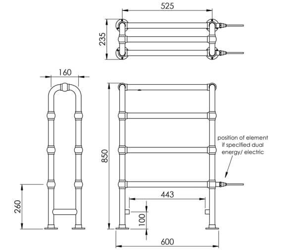 Technical drawing QS-V88590 / LG017 MS0850600CP