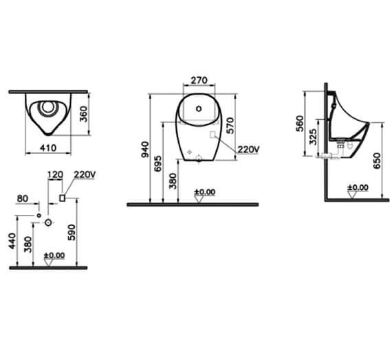 Technical drawing QS-V90473 / 4339B003-7214