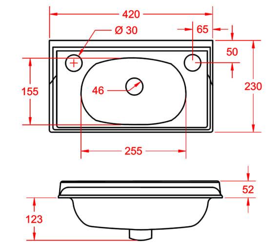 Technical drawing QS-V98140 / VCBASMCSQWHI