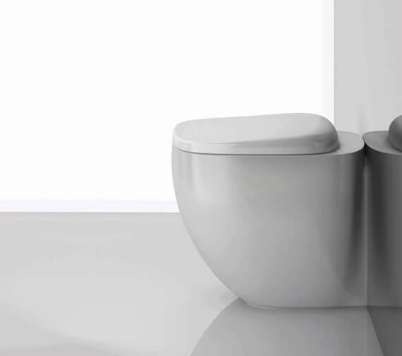 RAK Illusion Rimless Back To Wall Pan With Soft Close Seat