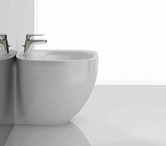 RAK Illusion Back To Wall Bidet With Hidden Fixation - 520mm Projection