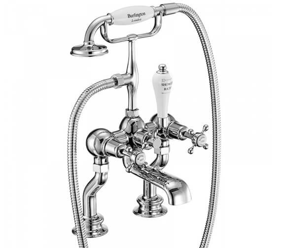 Additional image of Burlington Claremont Deck Mounted Bath Shower Mixer Tap - CL15