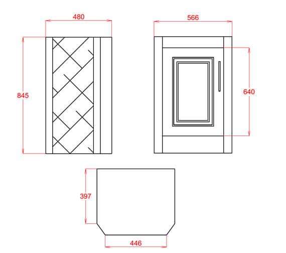 Technical drawing QS-V98142 / BARAN6003TH