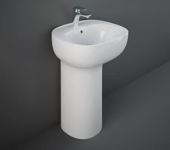 Additional image of RAK Illusion 540mm Wide Freestanding Wash Basin With Hidden Fixation System