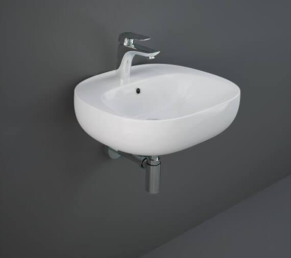RAK Illusion Wall Hung Wash Basin With 1 Tap Hole