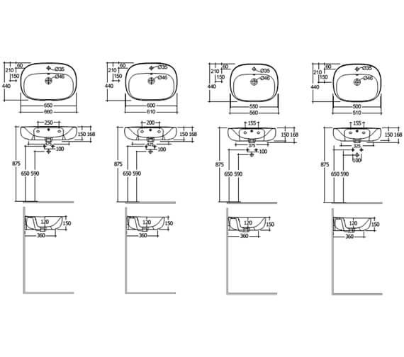 Technical drawing QS-V103341 / ILLWB5001AWHA