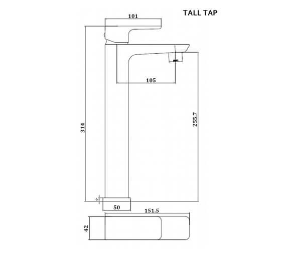 Technical drawing QS-V103205 / RAKMOO3002