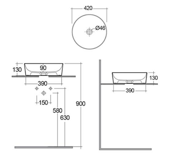 Technical drawing QS-V103342 / FEECT4200500A