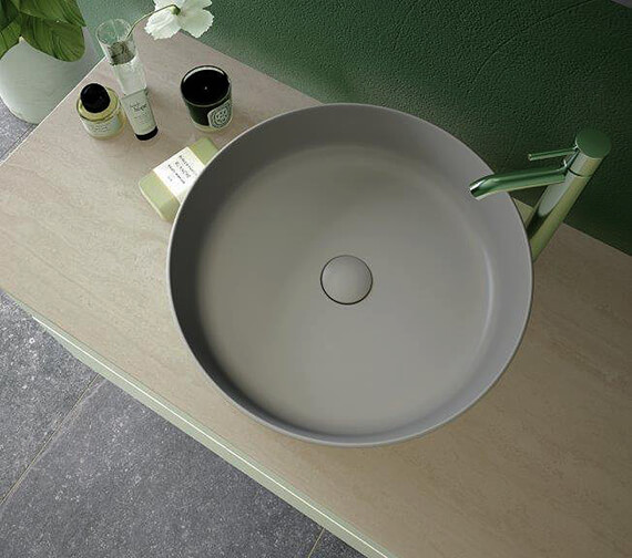 RAK Feeling Round 420mm Countertop Basin Without Tap Hole