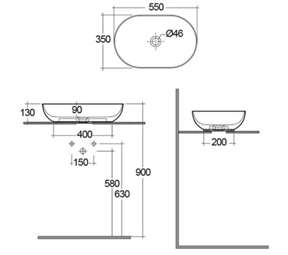 Technical drawing QS-V103344 / FEECT5500500A