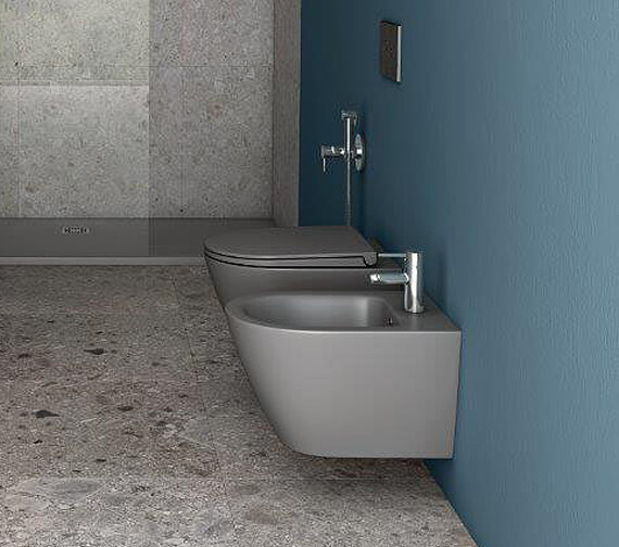 RAK Feeling Wall-Hung Bidet With 1 Tap Hole - 520mm Projection