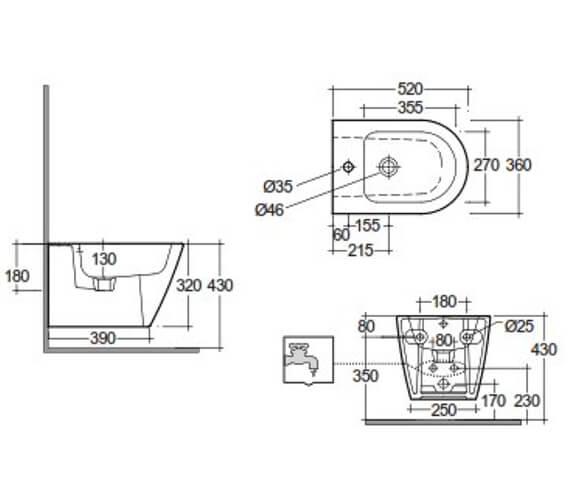 Technical drawing QS-V103346 / RST07500A