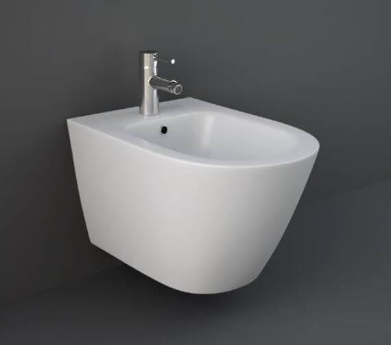 Additional image of RAK Feeling Wall-Hung Bidet With 1 Tap Hole - 520mm Projection