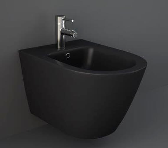 Alternate image of RAK Feeling Wall-Hung Bidet With 1 Tap Hole - 520mm Projection