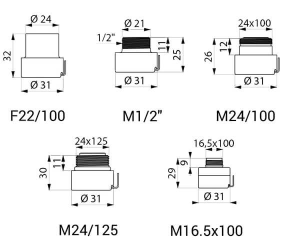 Technical drawing QS-V96378 / 820022