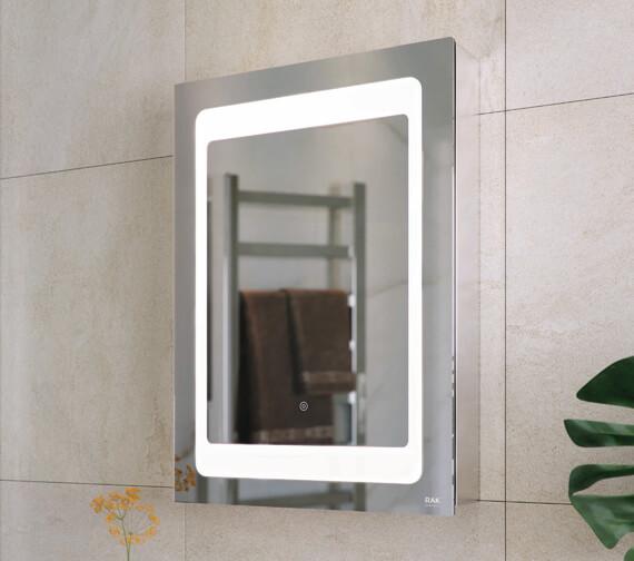 RAK Aphrodite LED Illuminated Single Door Mirrored Cabinet 500 x 700mm