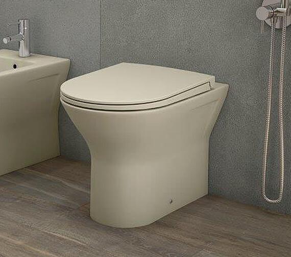 RAK Feeling Rimless Back To Wall WC Pan And Soft Close Seat