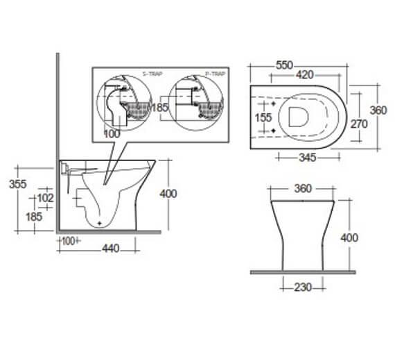 Technical drawing QS-V103347 / FEEBTWPAN500-SC