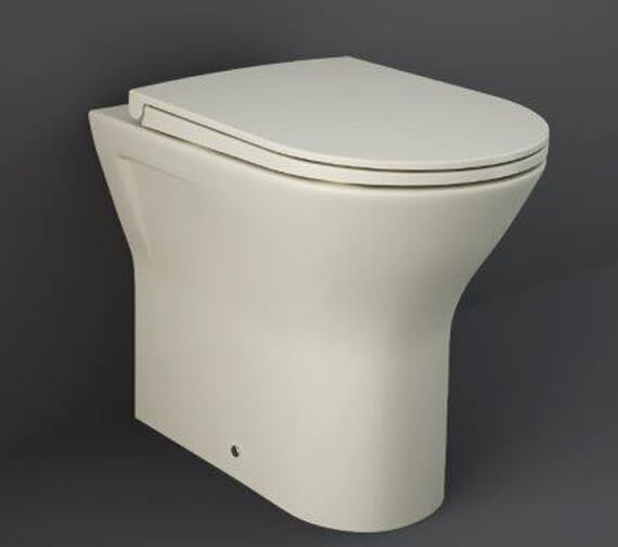 Alternate image of RAK Feeling Rimless Back To Wall WC Pan And Soft Close Seat