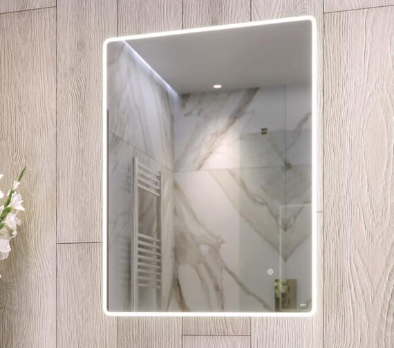 RAK Amethyst LED Illuminated Mirror With Demister Pad And Shaver Socket