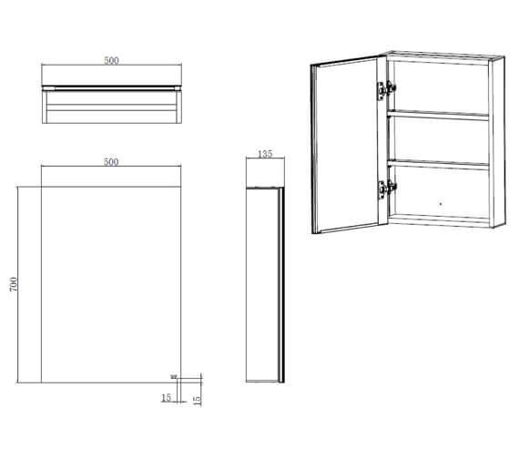 Technical drawing QS-V103357 / RAKGEM5001