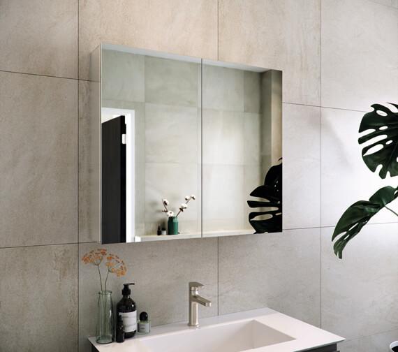 RAK Gemini Aluminium Mirrored Bathroom Cabinet